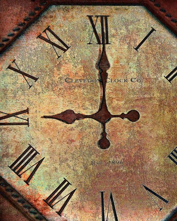 Time Poster featuring the photograph Clevedon Clock by Robert Smith