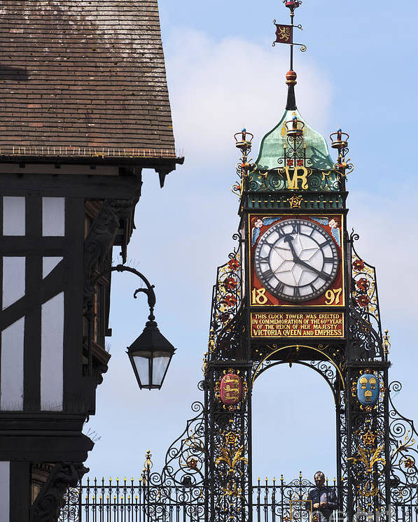 2011 Poster featuring the photograph Clock In Chester by Andrew Michael