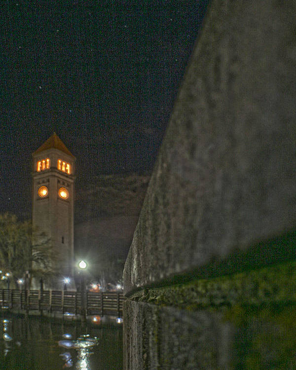 Poster featuring the photograph Clock Tower by Dan Quam
