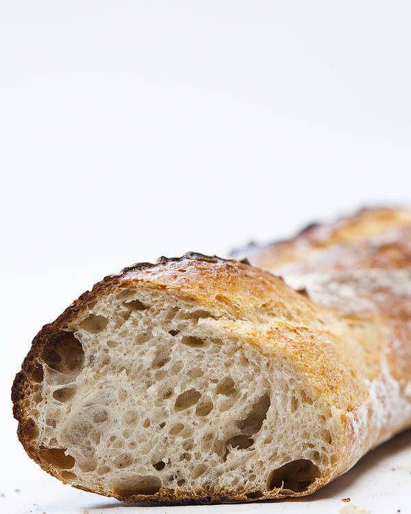 Vertical Poster featuring the photograph Close Up Of Sliced Loaf Of Bread by Henn Photography