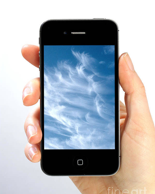 App Poster featuring the photograph Cloud Computing by Photo Researchers