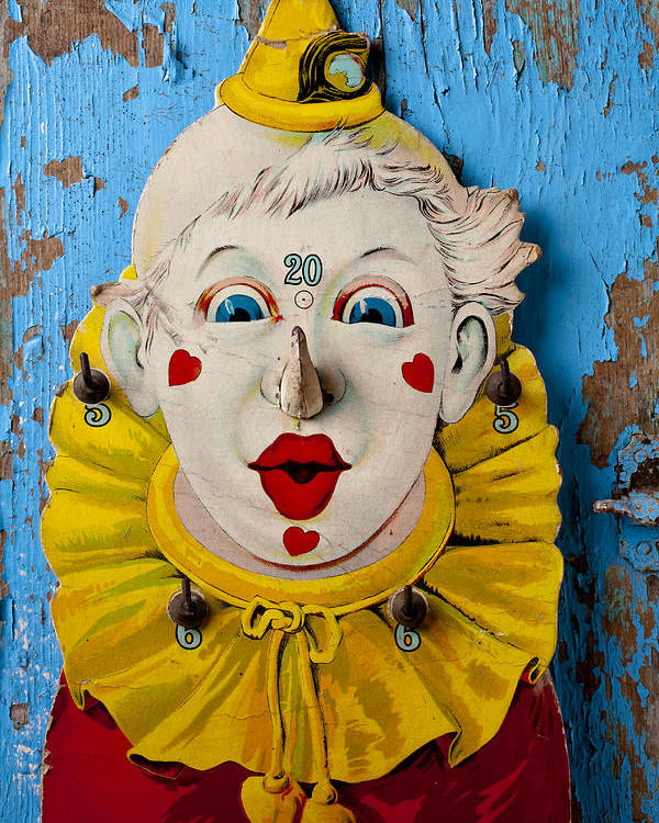 Clown Poster featuring the photograph Clown Toy Game by Garry Gay