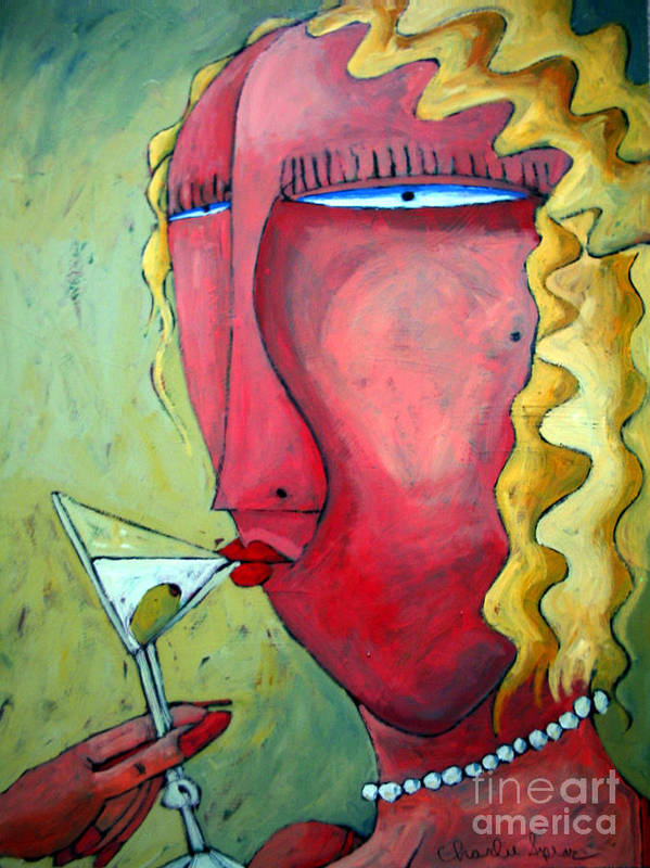 Cocktails Poster featuring the painting Cocktail Hour by Charlie Spear