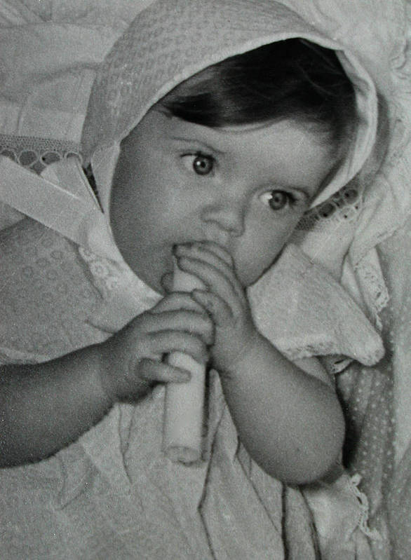 Colette Poster featuring the photograph Colette 1 Year Old With 3 Eye Opend by Colette V Hera Guggenheim