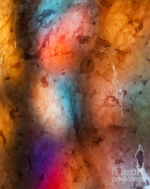 Abstract Poster featuring the photograph Colored Glass by David Buffington
