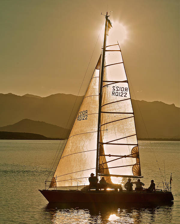 Yacht Poster featuring the photograph Coming Home 2 by Jocelyn Kahawai