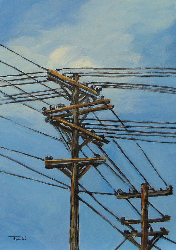 Power Lines Poster featuring the painting Communication by Torrie Smiley