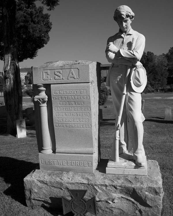 Csa Poster featuring the photograph Confederate Soldier Memorial by Kathy Clark
