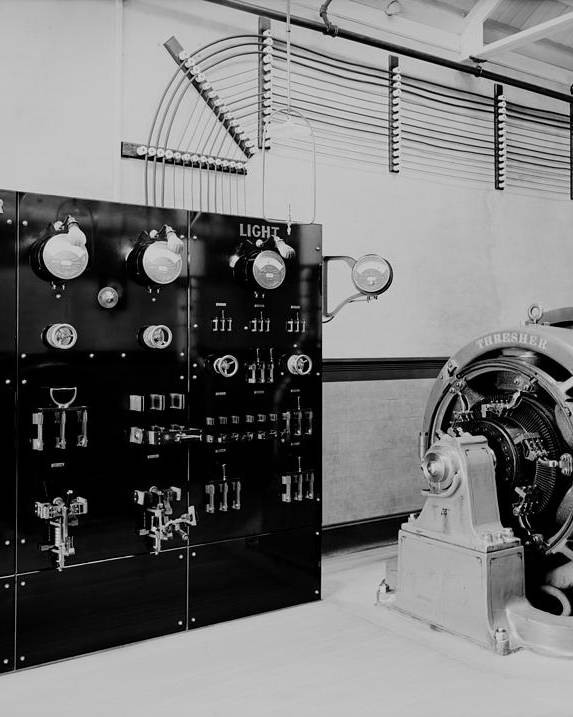 History Poster featuring the photograph Control Panel And Dynamo Generator by Everett