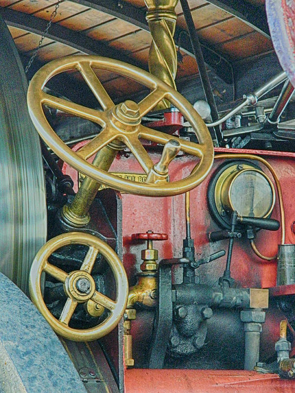 Steam Engine Poster featuring the photograph Controls by Sharon Lisa Clarke