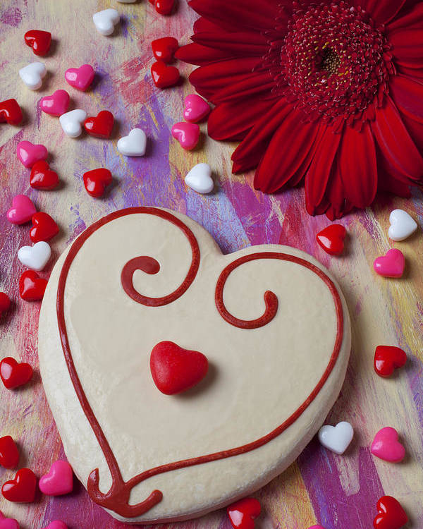 Heart Poster featuring the photograph Cookie And Candy Hearts by Garry Gay