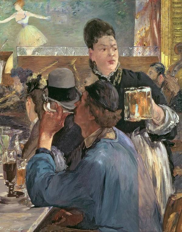 Brasserie De Reichshoffen; Beer; Pipe; Waitress; Audience; Dancer; Impressionist; Cabaret; Choppe; Biere; Leisure; Cafe; Concert Poster featuring the painting Corner Of A Cafe-concert by Edouard Manet