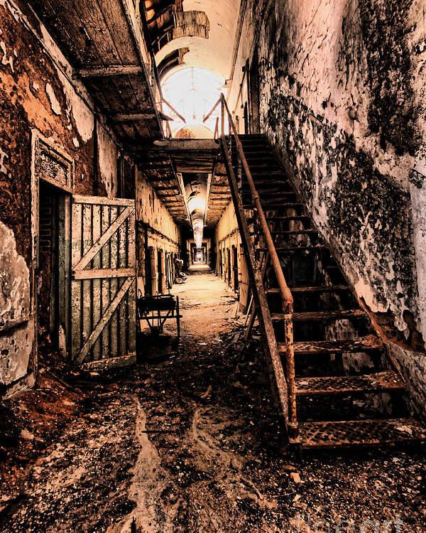 Philadelphia Poster featuring the photograph Corridor Creep by Andrew Paranavitana