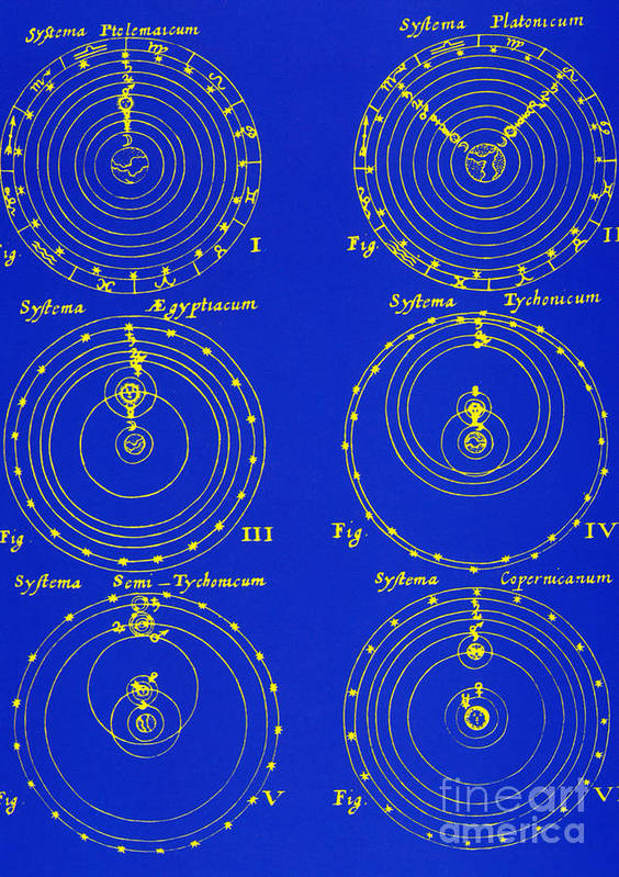 Historical Poster featuring the photograph Cosmological Models by Science Source