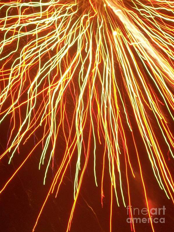 Fireworks Poster featuring the photograph Crossing The Streams by Sasha Marlay