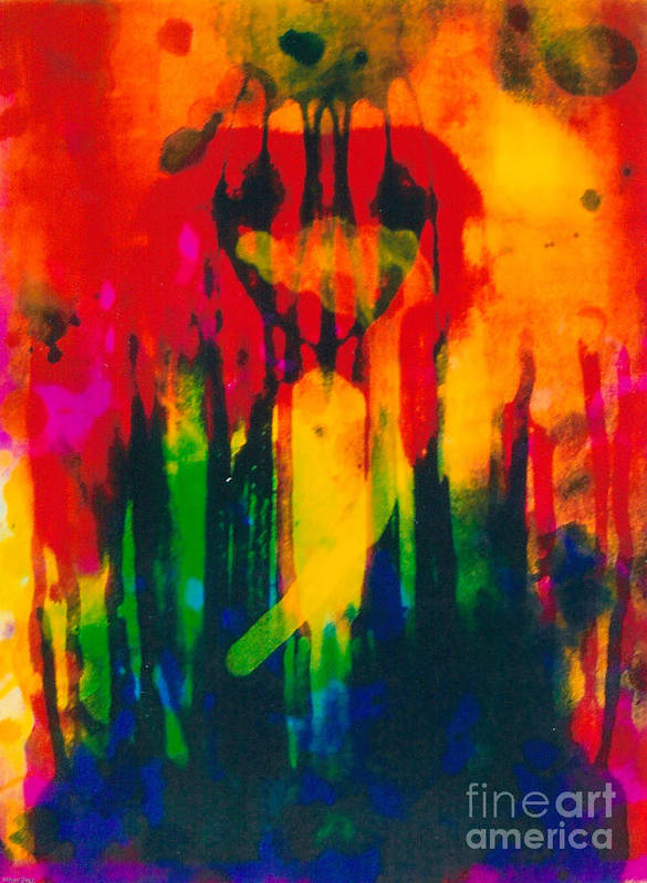 Abstraction Poster featuring the mixed media Crown Royal by Bill Davis