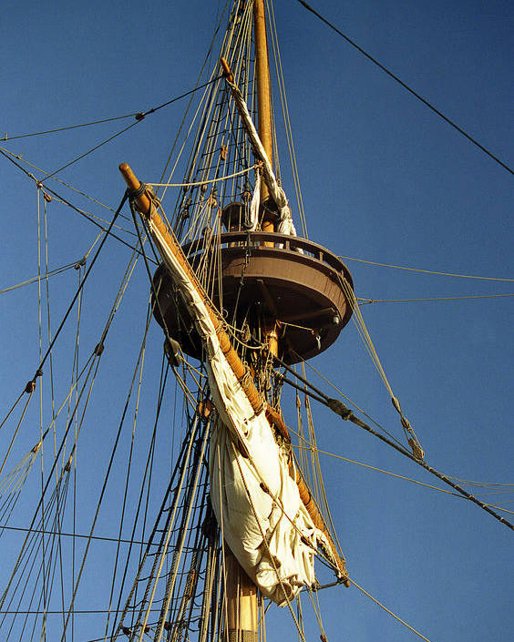 Sail Poster featuring the photograph Crows Nest by Skip Willits