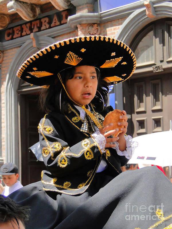 Al Bourassa Poster featuring the photograph Cuenca Kids 148 by Al Bourassa
