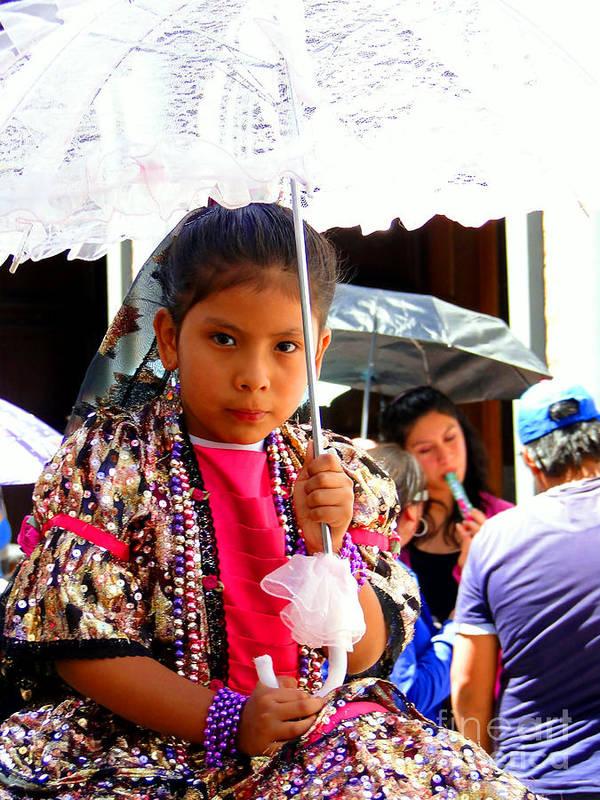 Al Bourassa Poster featuring the photograph Cuenca Kids 190 by Al Bourassa