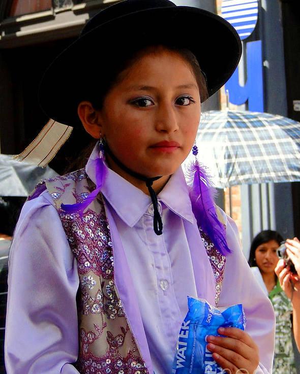 Al Bourassa Poster featuring the photograph Cuenca Kids 192 by Al Bourassa