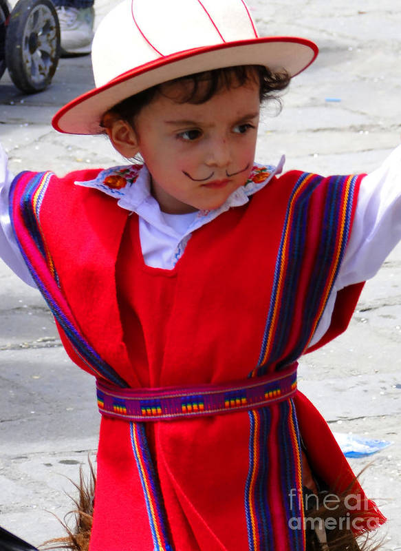 Al Bourassa Poster featuring the photograph Cuenca Kids 68 by Al Bourassa