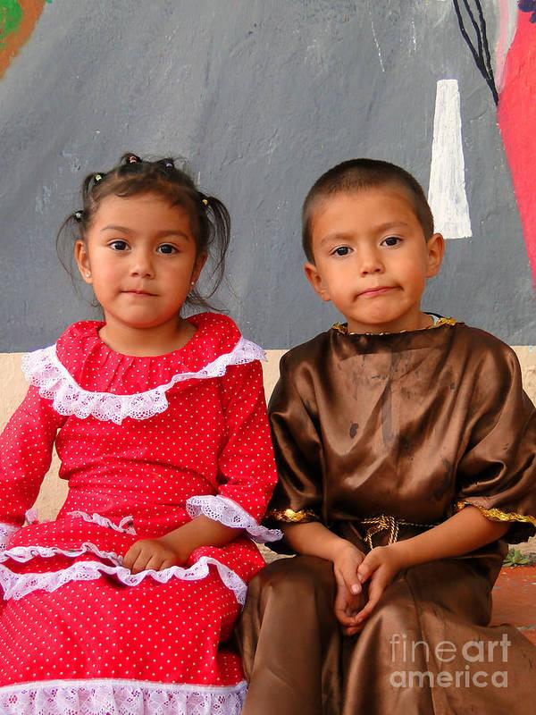 Al Bourassa Poster featuring the photograph Cuenca Kids 76 by Al Bourassa
