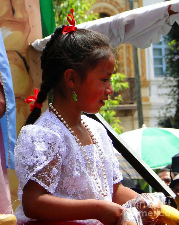 Al Bourassa Poster featuring the photograph Cuenca Kids 94 by Al Bourassa