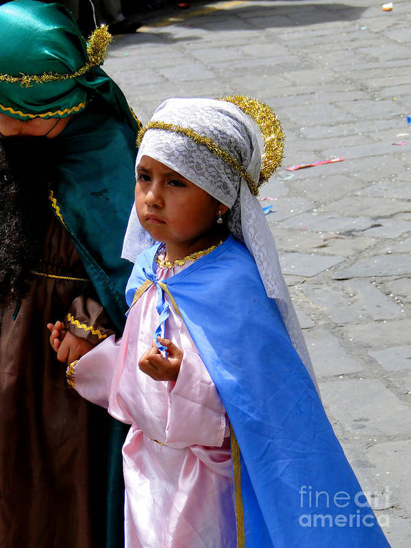 Al Bourassa Poster featuring the photograph Cuenca Kids 98 by Al Bourassa