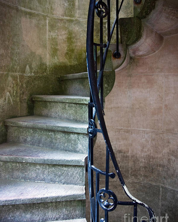 Abstract Poster featuring the photograph Curly Stairway by Carlos Caetano