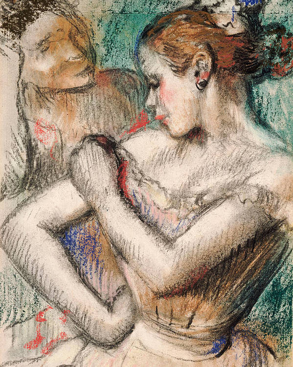 Dancer Poster featuring the pastel Dancer by Edgar Degas