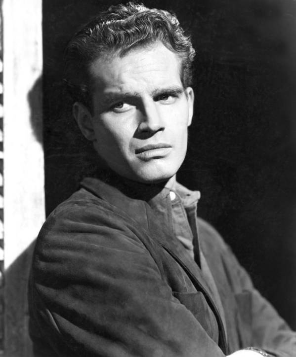 1950 Movies Poster featuring the photograph Dark City, Charlton Heston, 1950 by Everett