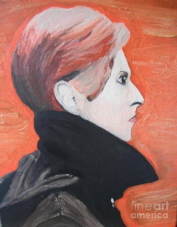 David Bowie Poster featuring the painting David Bowie by Jeannie Atwater Jordan Allen