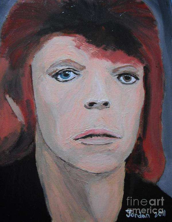 Art Poster featuring the painting David Bowie The Early Years by Jeannie Atwater Jordan Allen