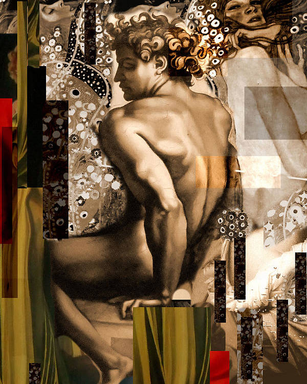 David Poster featuring the painting David Et Julie by Karine Percheron-Daniels