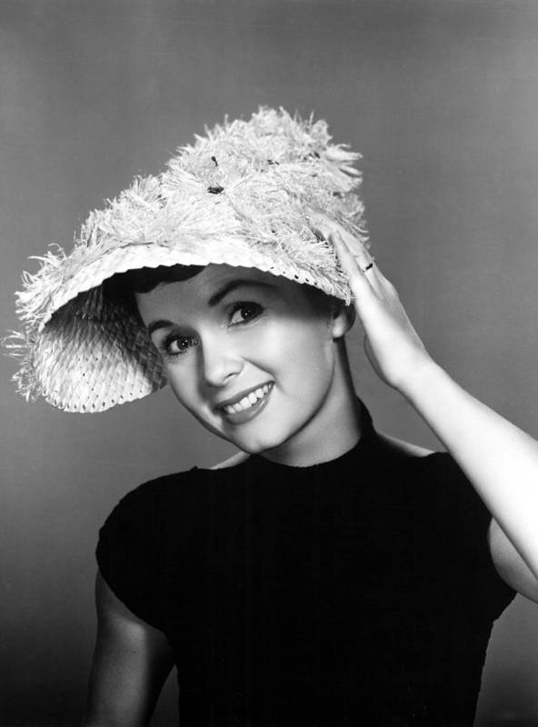 Feathered Hat Poster featuring the photograph Debbie Reynolds, 1956 by Everett