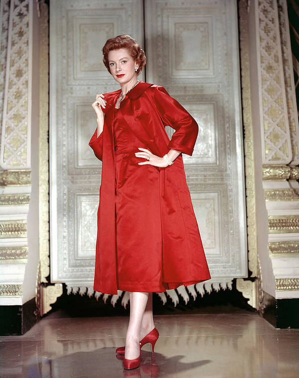 1950s Fashion Poster featuring the photograph Deborah Kerr, 1956 by Everett