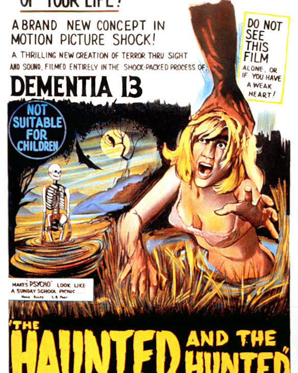 1960s Movies Poster featuring the photograph Dementia 13, Aka The Haunted And The by Everett