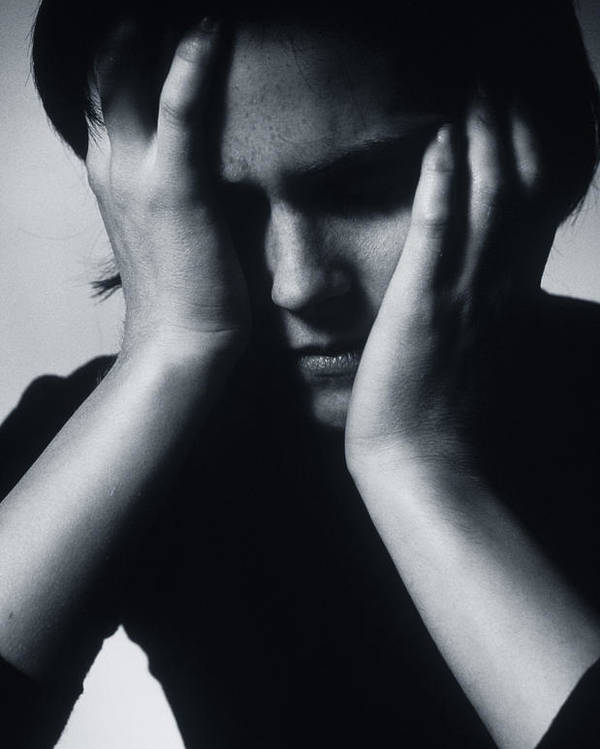 Woman Poster featuring the photograph Depressed Woman by Mauro Fermariello
