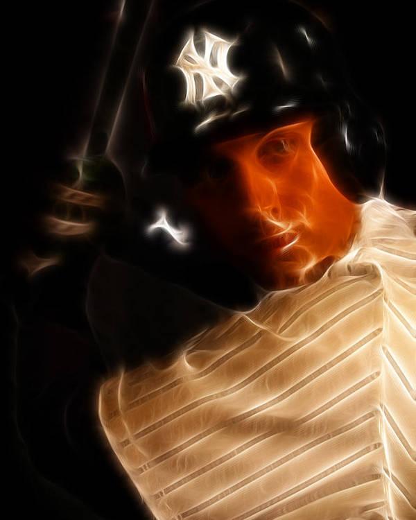 Lee Dos Santos Poster featuring the photograph Derek Jeter - New York Yankees - Baseball by Lee Dos Santos