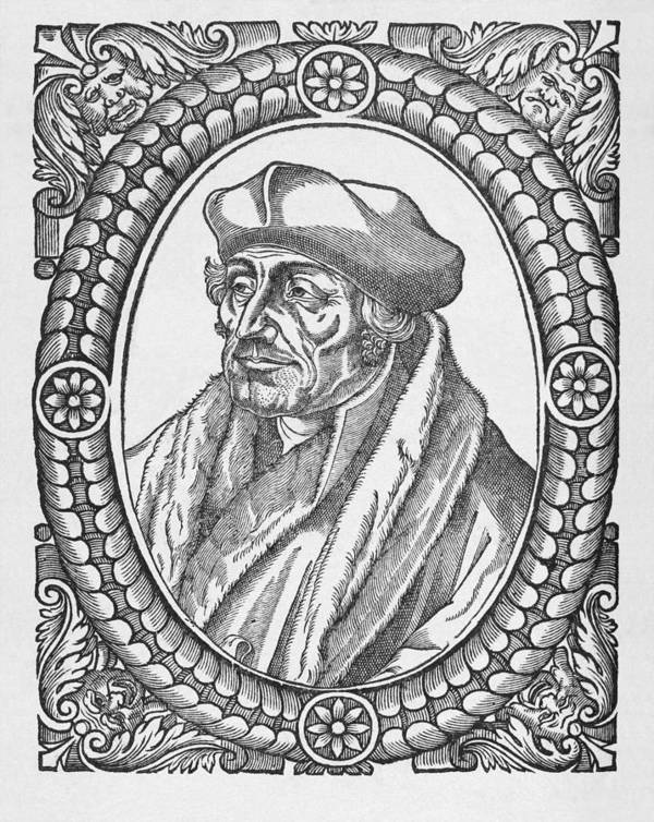 1400s Poster featuring the photograph Desiderius Erasmus, Dutch Theologian by Middle Temple Library