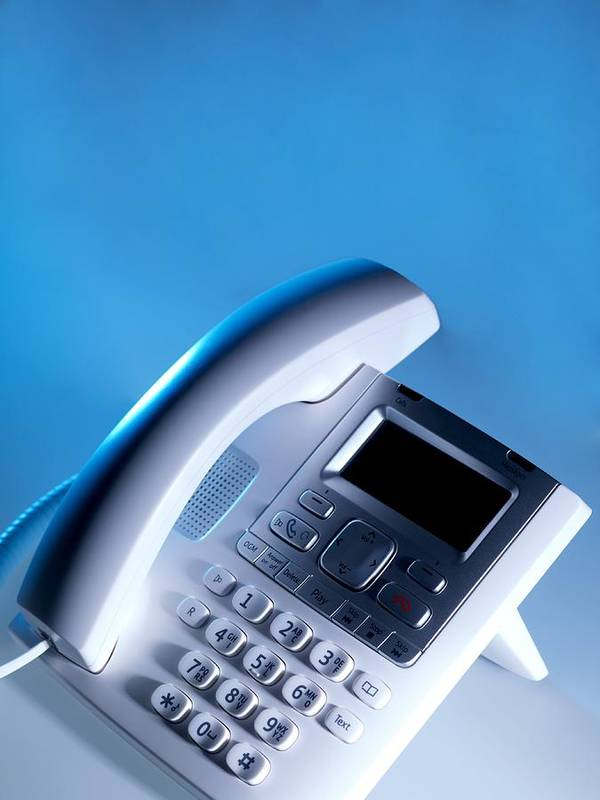 Equipment Poster featuring the photograph Desk Telephone by Tek Image
