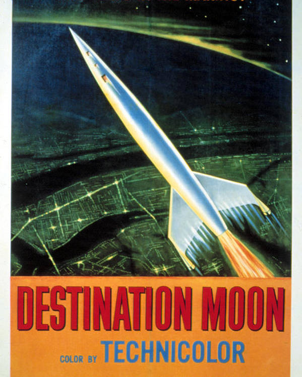 1950 Movies Poster featuring the photograph Destination Moon, 1950 by Everett