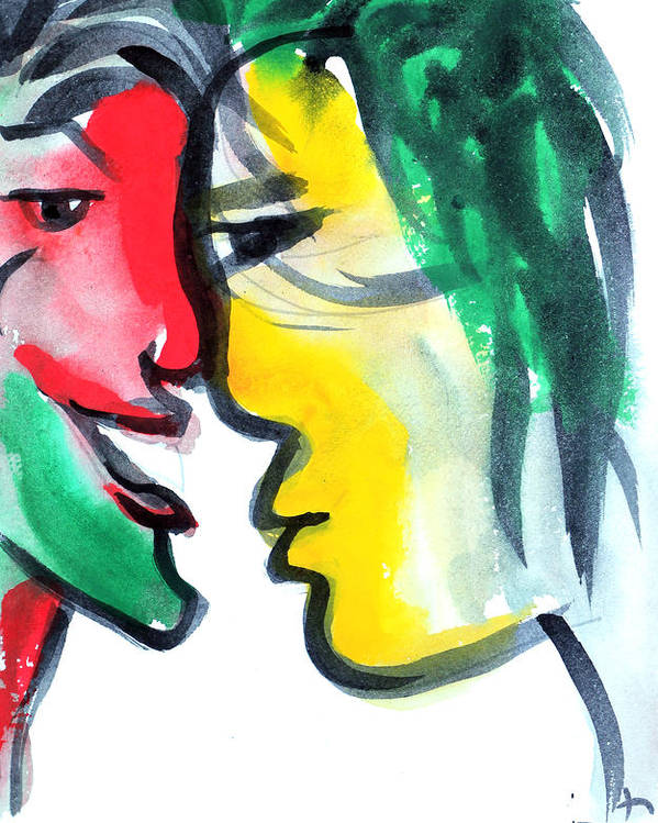 Dialogue Poster featuring the painting Dialogos 3 by Jorge Berlato