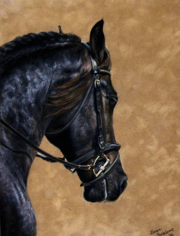 Dressage Poster featuring the pastel Dignified by Loreen Pantaleone