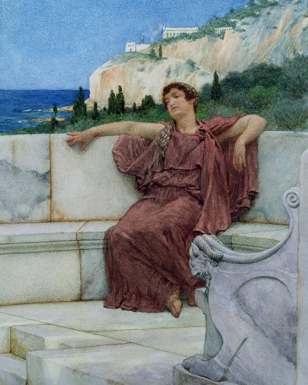 Dolce Poster featuring the painting Dolce Far Niente by Sir Lawrence Alma-Tadema