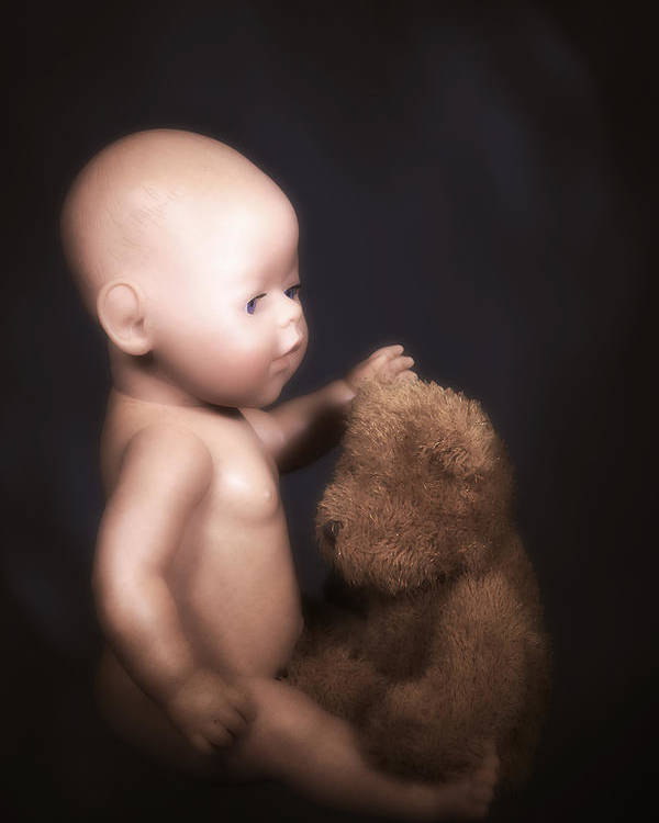 Teddy Poster featuring the photograph Doll And Bear by Joana Kruse