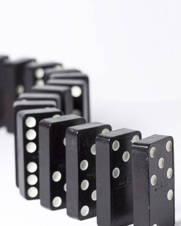 Domino Poster featuring the photograph Dominos S 1 by John Brueske
