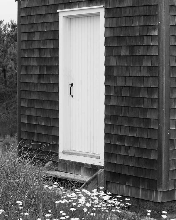 Door Poster featuring the photograph Doorway By The Sea Cape Cod National Seashore by Michelle Wiarda