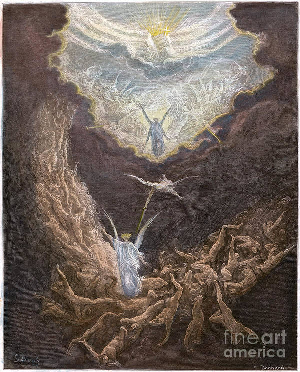 Angel Poster featuring the photograph Dor�: Last Judgment by Granger