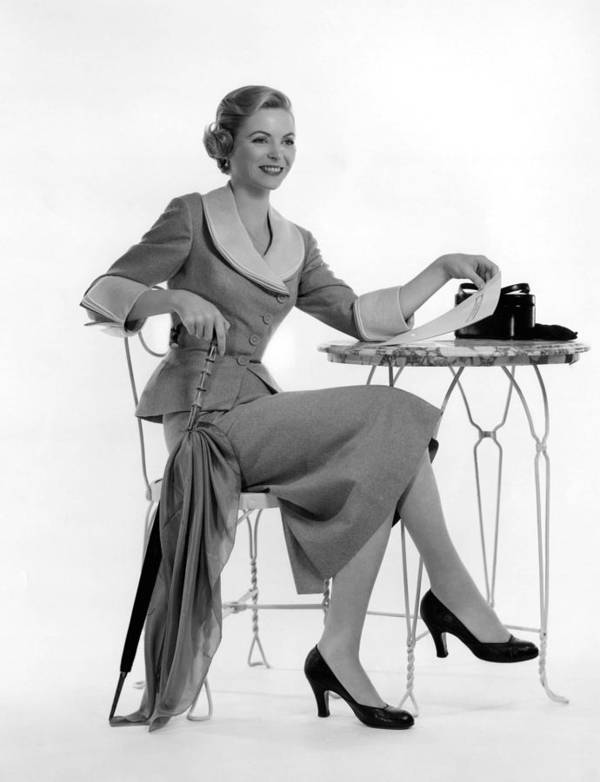 1950s Fashion Poster featuring the photograph Dorothy Mcguire, Ca. 1950s by Everett